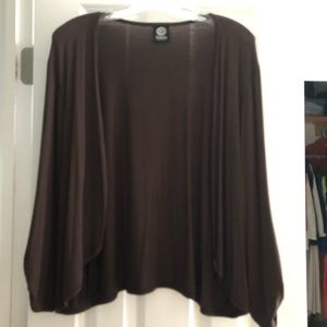 EUC Bobeau Size XL Brown Cardigan